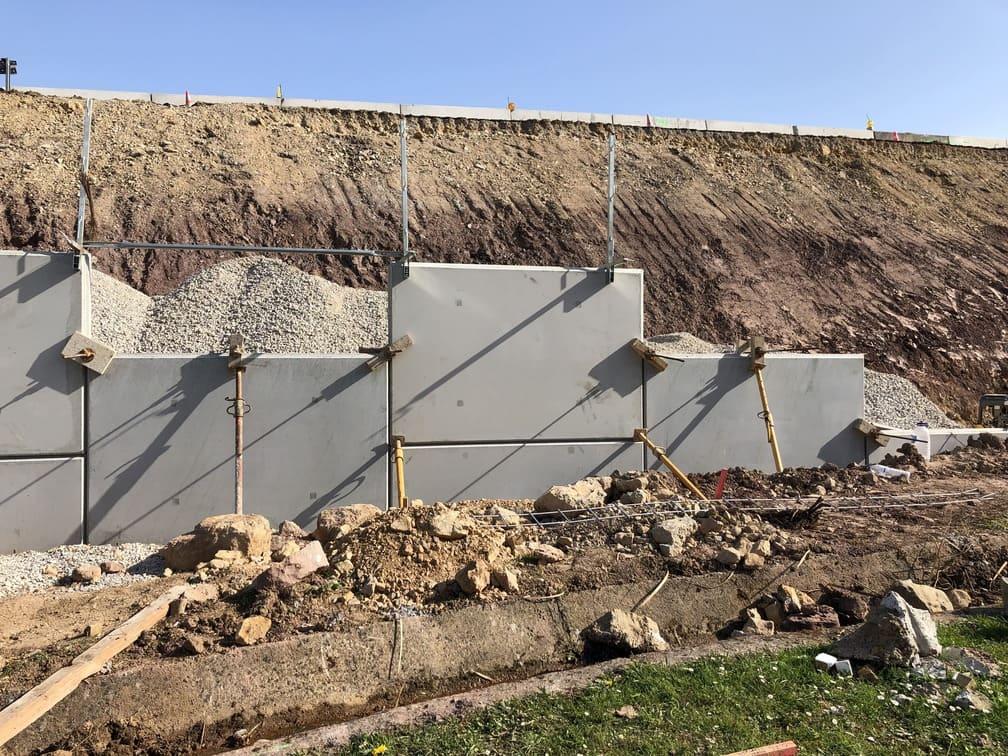 Obra muros tierra armada